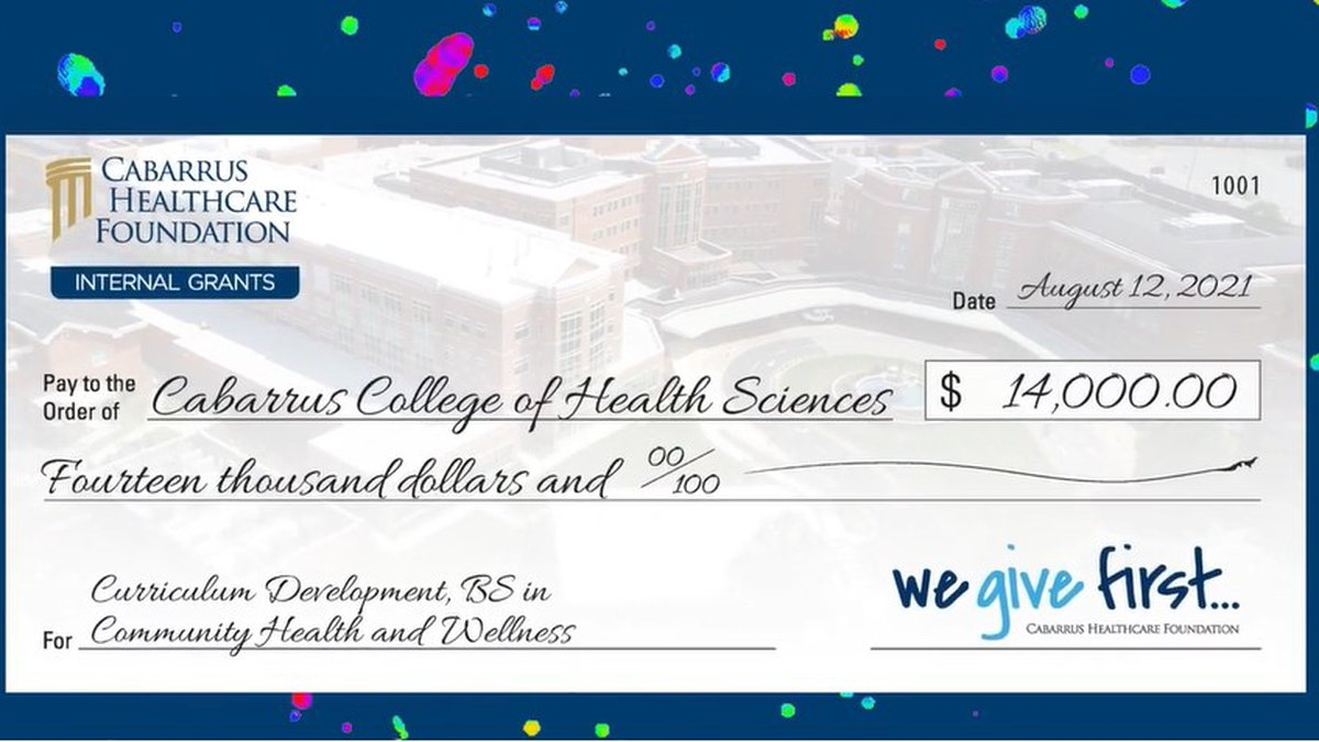 The Cabarrus College of Health Sciences was one of 19 grant recipients.