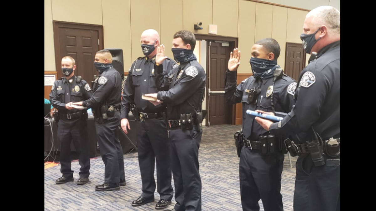 Tony Ramirez, Jalan Coles and Noah Norfleet were sworn in as the newest officers of the...