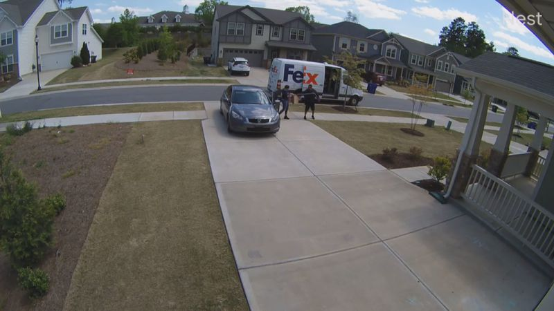 A Huntersville couple claims that a woman acted as if she owned their home and stole a package...