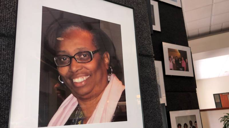 An exhibit honoring Cynthia Graham Hurd, one of the victims of the 2015 shooting at Mother...