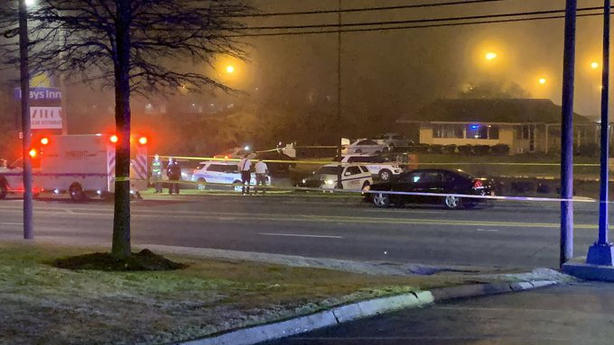 A homicide investigation focused on a parking lot of a Days Inn in south Charlotte