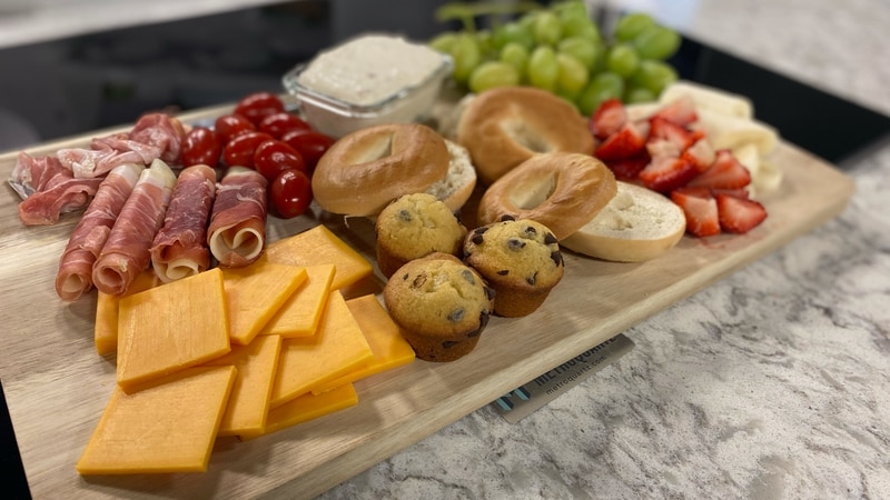 Make your own brunch board at home.