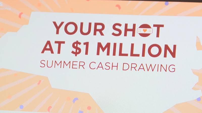 North Carolina is offering four chances at winning $1,000,000 to encourage more people to get...