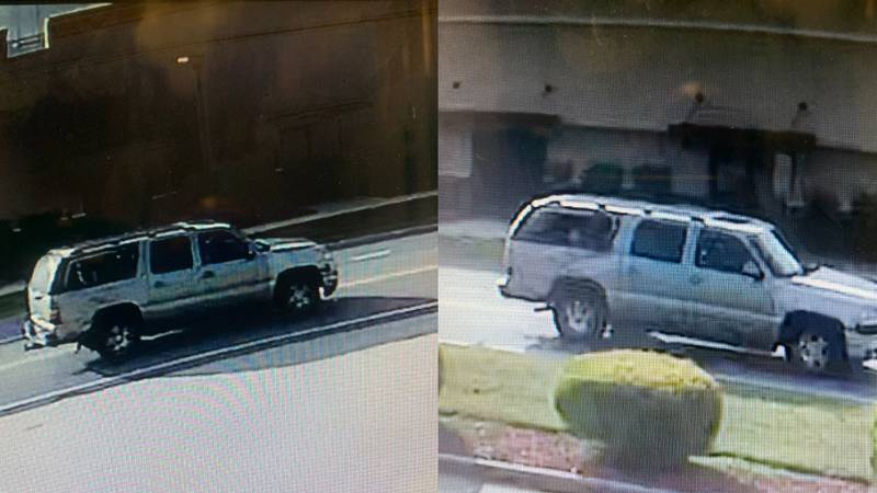Investigators are searching for a tan or gold early 2000′s suburban with extensive damage to...