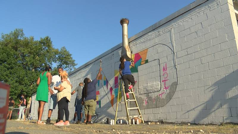 This is the second of several more pieces the artists have planned for this side of town.