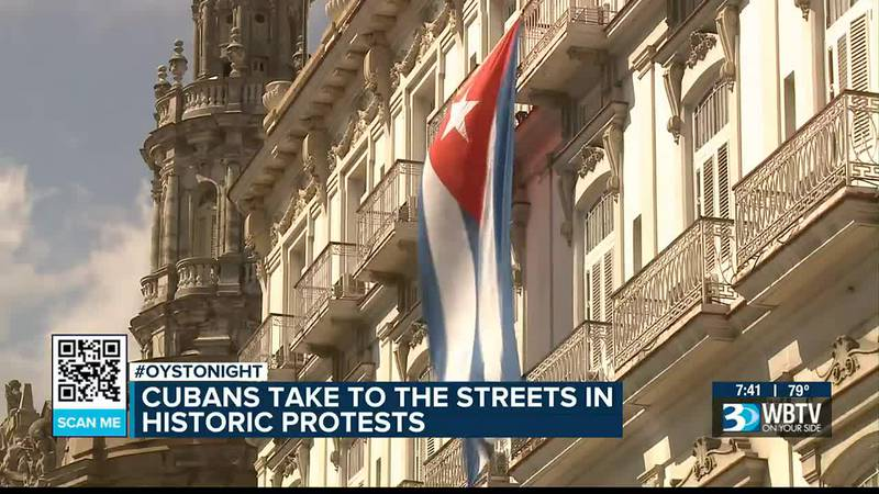 Cubans take to streets with historic protests, Charlotte residents show support
