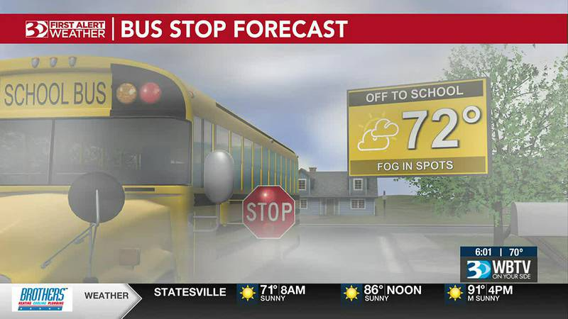 Bus Stop Forecast:  There may be a lot of fog where you are