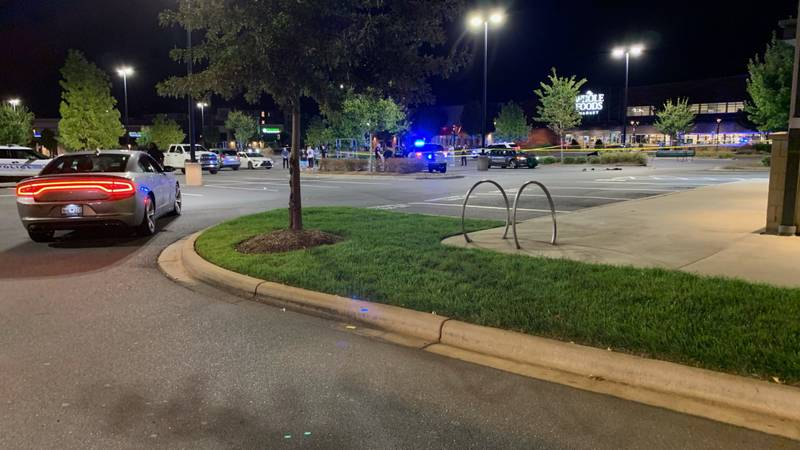Police responded to the Waverly Shopping Center in south Charlotte following a shooting late...