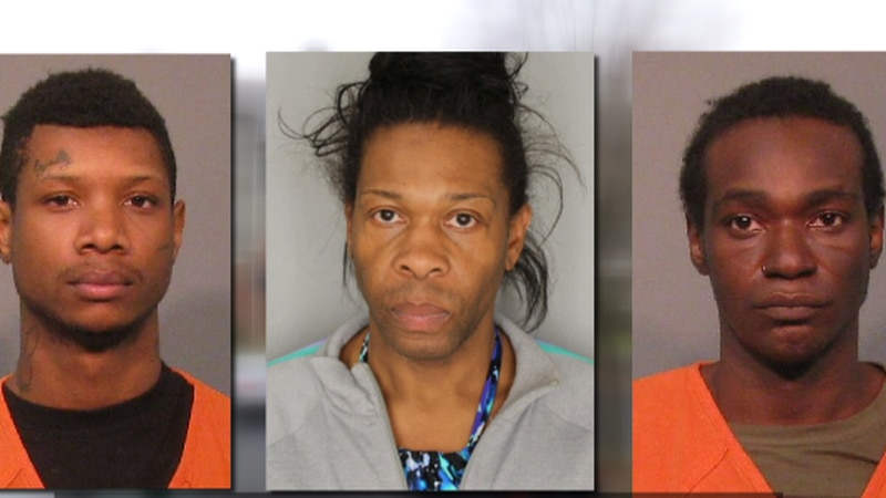 Mugshots of Adrian Good of Rock Hill, SC, Devonte Choice of Greenville, SC and Anthony Rowland...