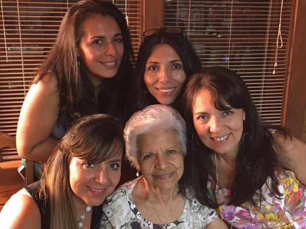Cecilia Buitrago de Gonzalez with her daughters Patty Avery, left, Claudia Gonzalez Griffin,...