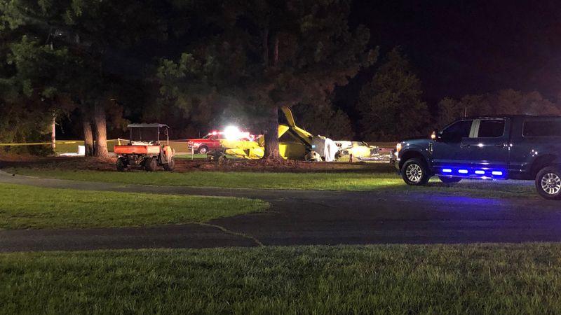 Small plane crash at Kinston Drag Strip