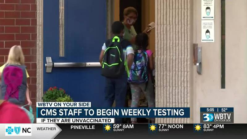 The phased approach for testing CMS staff will begin Sept. 27.