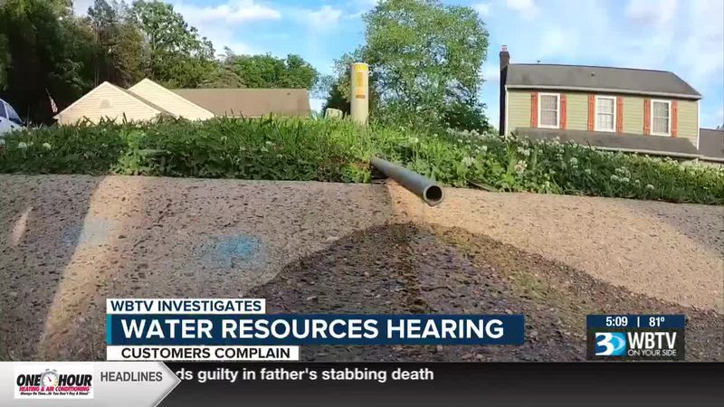 Water resources hearing after customer complaints in Cabarrus County