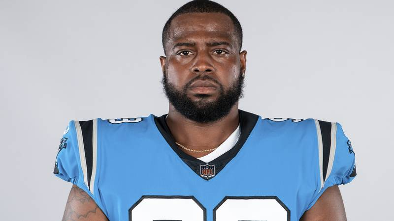 This is a 2020 photo of Kawann Short of the Carolina Panthers NFL football team. This image...