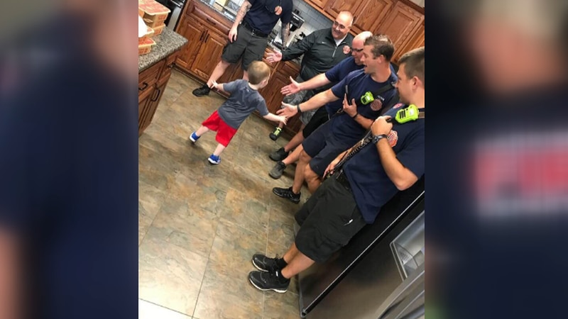 Jackson Reid's Birthday Party with Harrisburg Firefighters