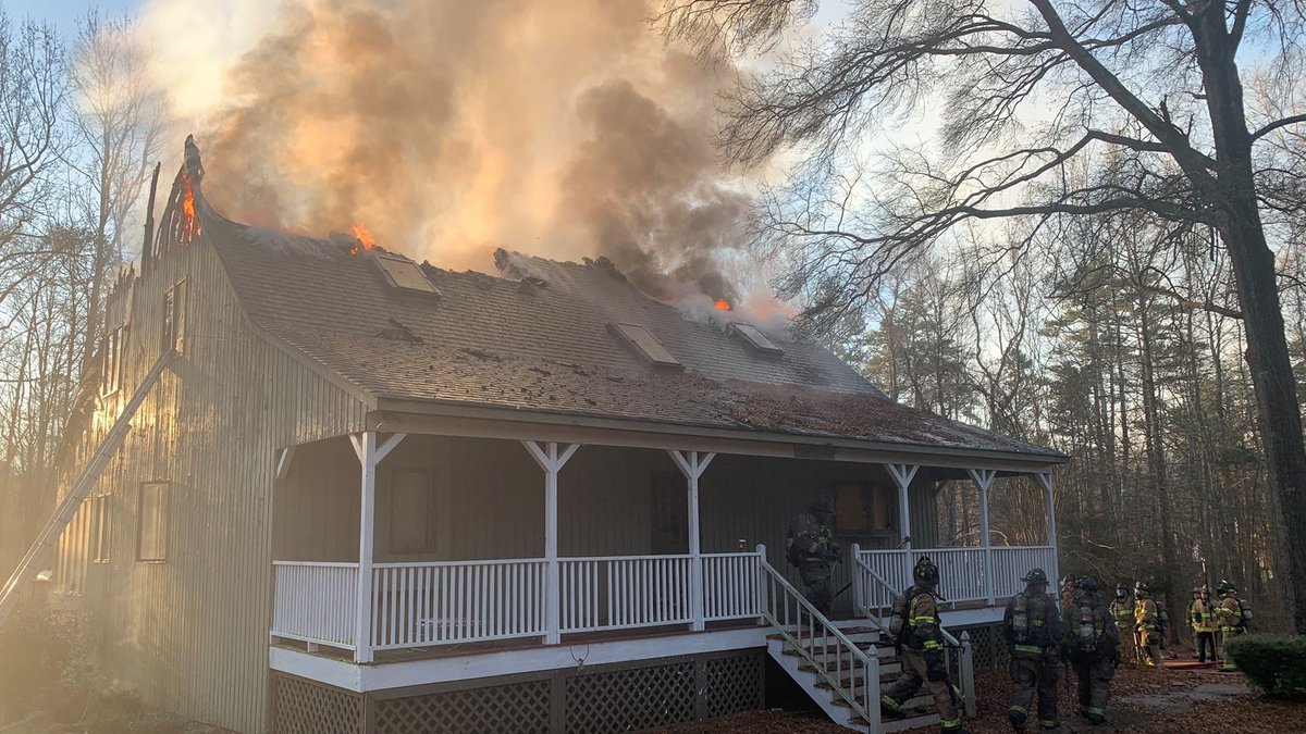 Home under construction catches fire in northeast Charlotte