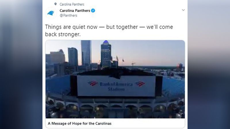 An emotion-evoking video tweeted by the Carolina Panthers and narrated by Julius Peppers is...