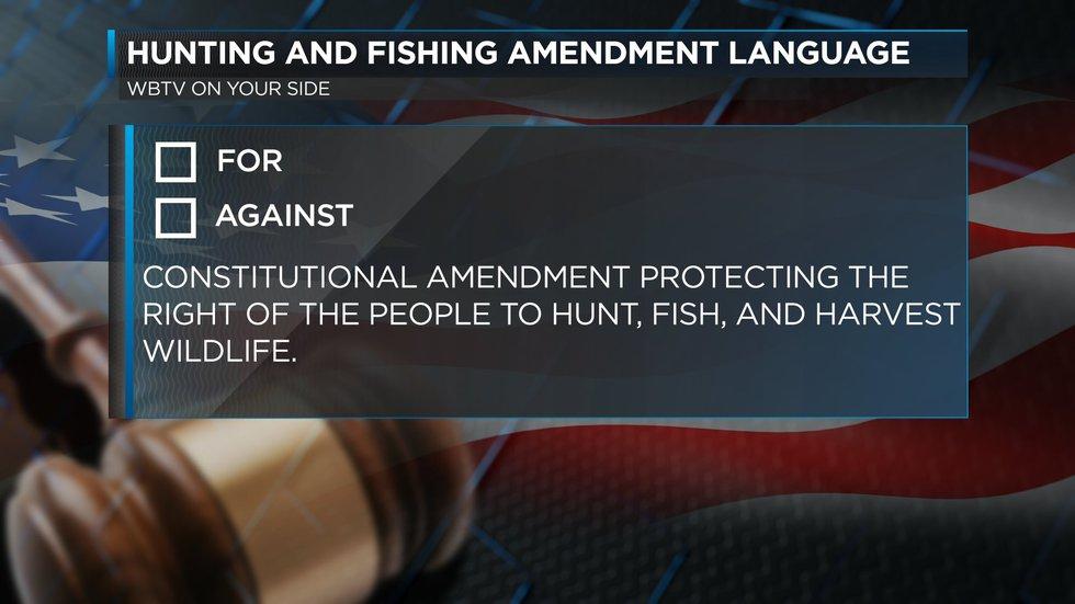 Hunting and Fishing Amendment language