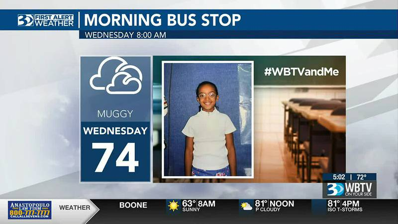 Bus Stop Forecast for CMS's first day back to school!