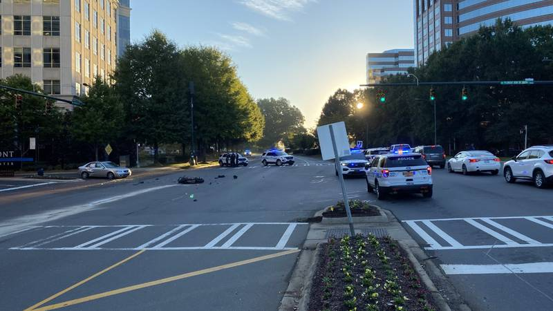 Wesbound Fairview Road in Charlotte's SouthPark area was closed Friday morning following a...