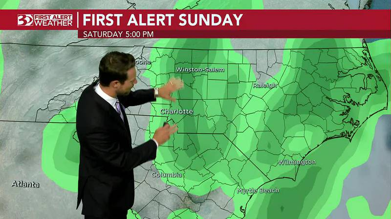 WBTV Wednesday morning weather forecast: Pleasant today, with scattered storms possible for...