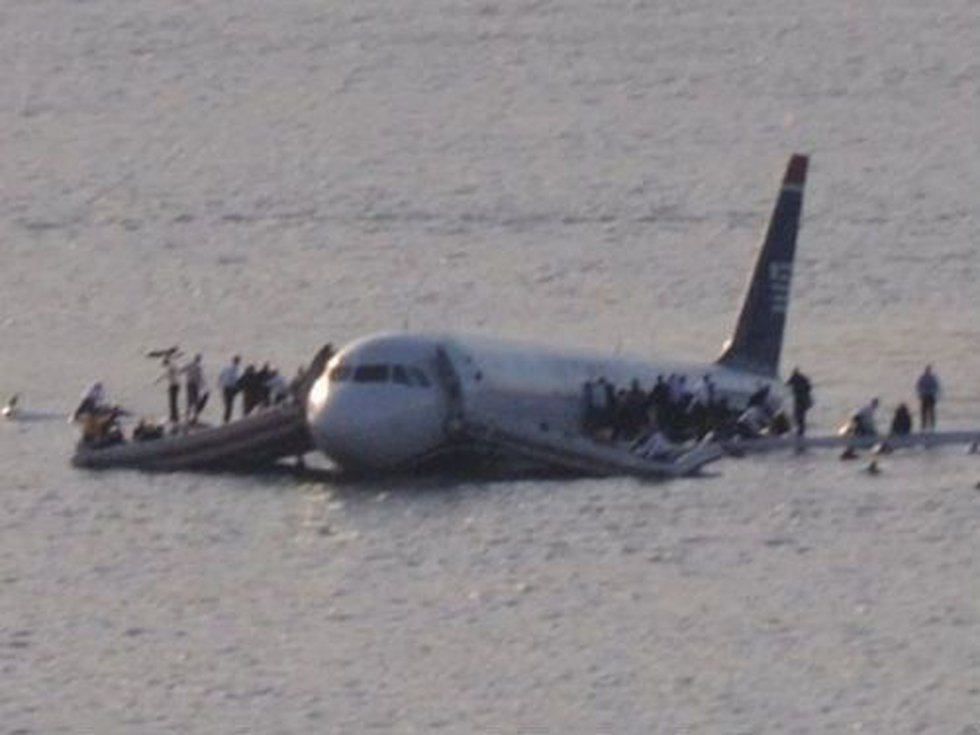 The US Airways jet made an emergency 'ditched' landing in the Hudson River on Jan. 15, 2009....