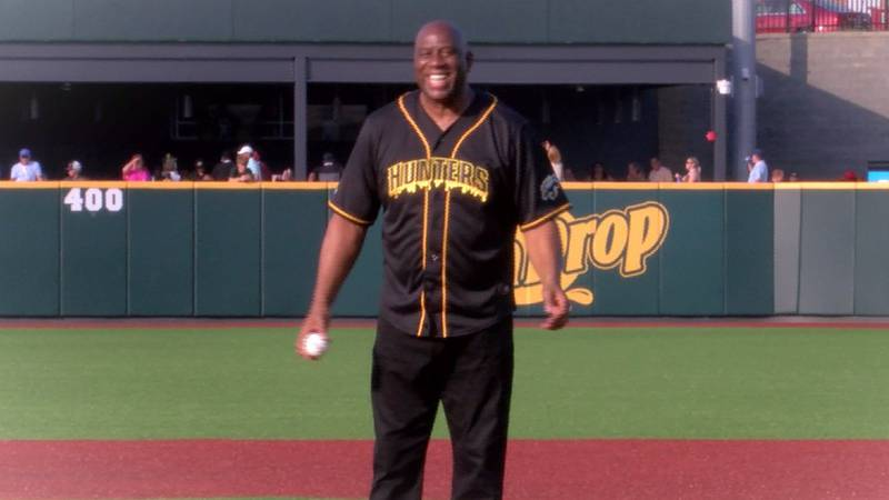The season began with Johnson throwing the first pitch commencing at 6:50 p.m. at CaroMont...