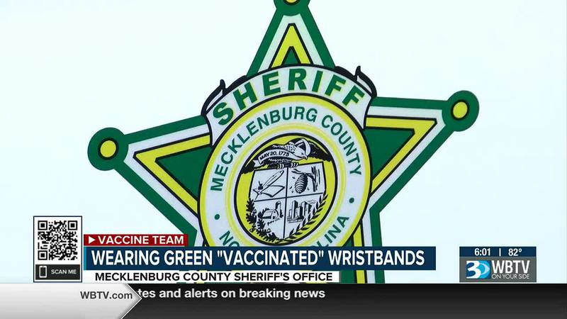 You may notice some Mecklenburg County Sheriff's Office employees wearing a wristband to say...