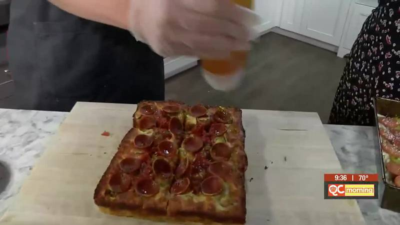 Cooking Detroit-style pizza with Emmy Squared