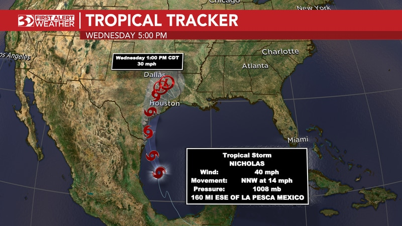 Tropical Storm Nicholas Forms In The Gulf Of Mexico