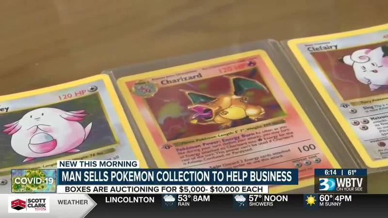 Man collects Pokemon collection to help business