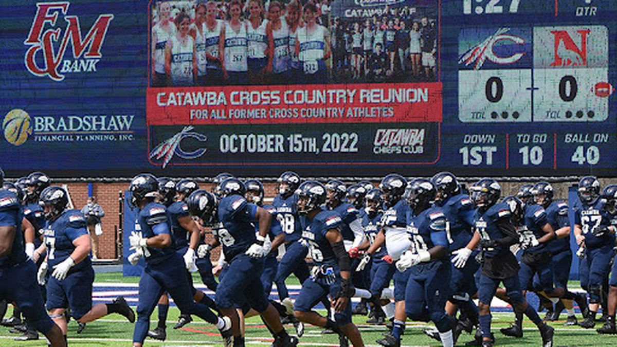 The next game still on the schedule has Catawba hosting Carson-Newman on October 9th.