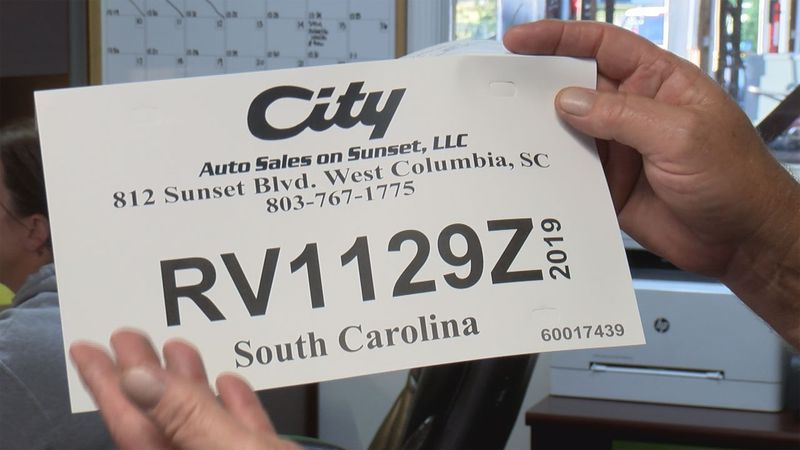 The South Carolina Department of Motor Vehicles introduced these new temporary tags in May.