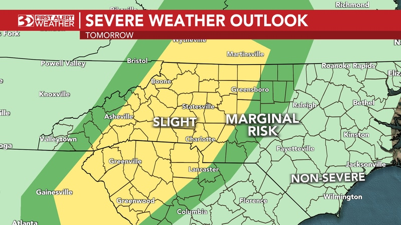 Heavy rainfall and severe storms are possible for Tuesday, with a few isolated tornadoes.