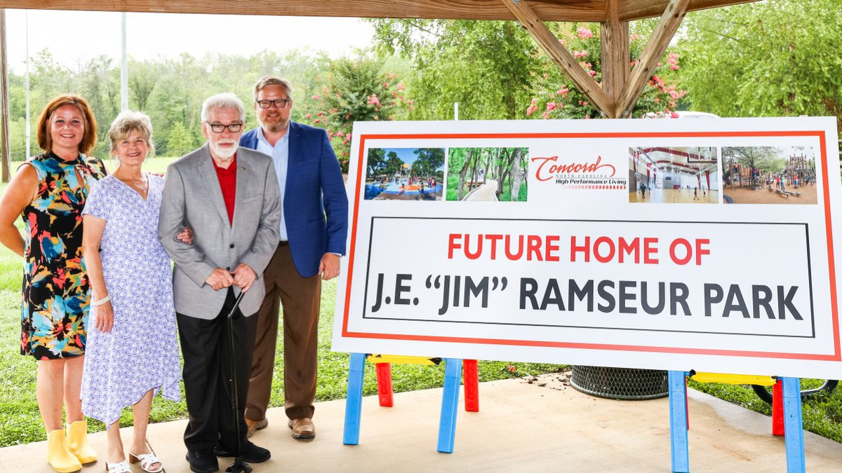 """The city's first park in northwest Concord will formally be known as the J.E. """"Jim"""" Ramseur Park."""