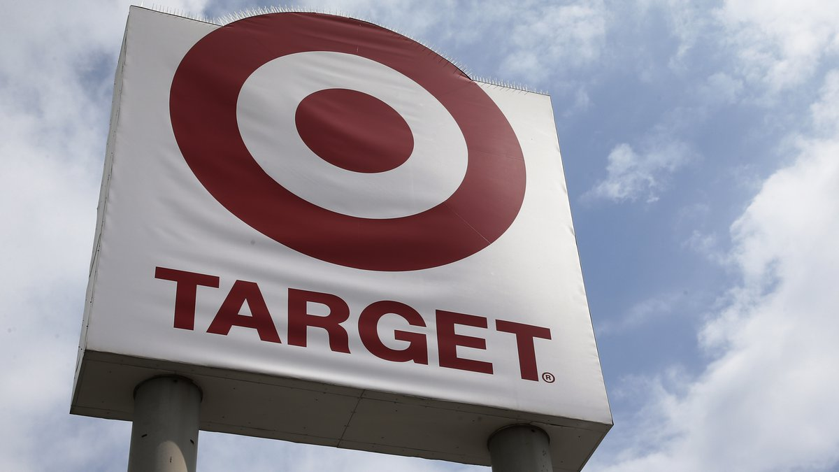 A sign is pictured at a Target store on Tuesday, Aug. 4, 2020, in Oklahoma City.