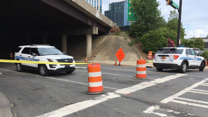 The incident happened on South Mint Street near the I-277 overpass. Charlotte-Mecklenburg...