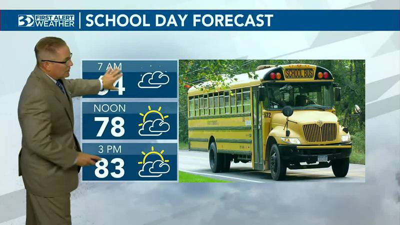 Bus Stop Forecast starts at 64 degrees