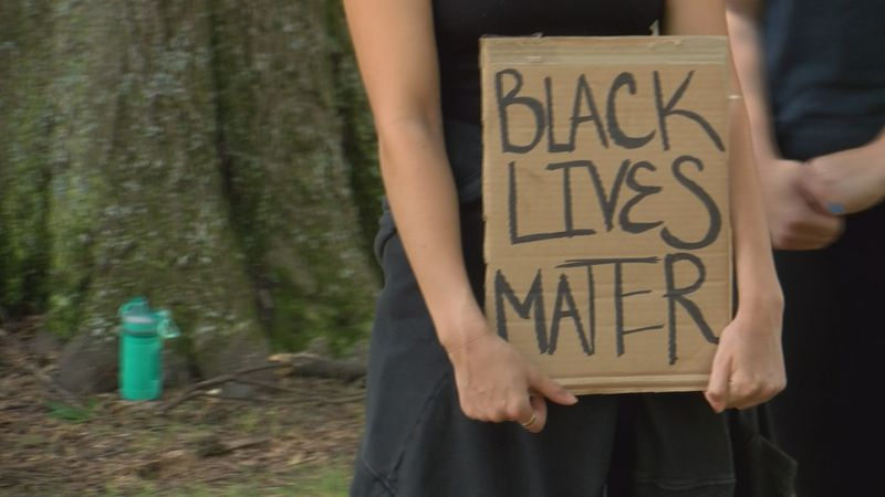 At some of these peaceful protests in Charlotte, there are some families who are bringing their...