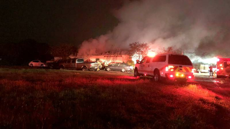 The fire was reported just before 6:00 a.m. on Wednesday.