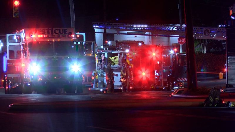 Charlotte firefighters responded to a strip mall that caught on fire on Monroe Rd. Sunday...