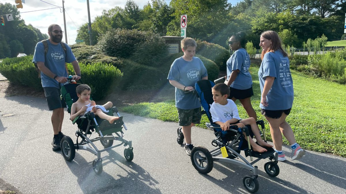The walk raised awareness and funds to cure a rare genetic disorder.
