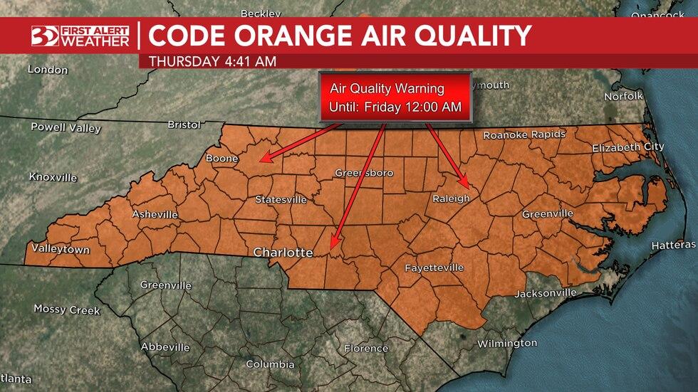 Code Orange air quality