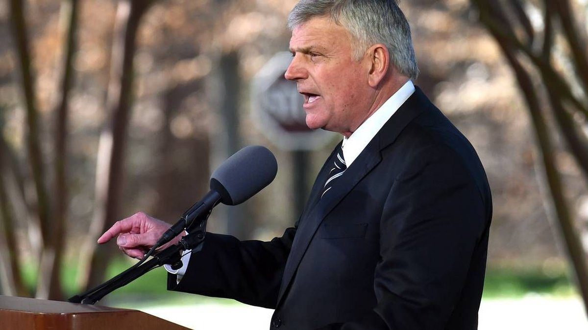 Franklin Graham was among the speakers March 2 at the Charlotte funeral of his father, Billy...
