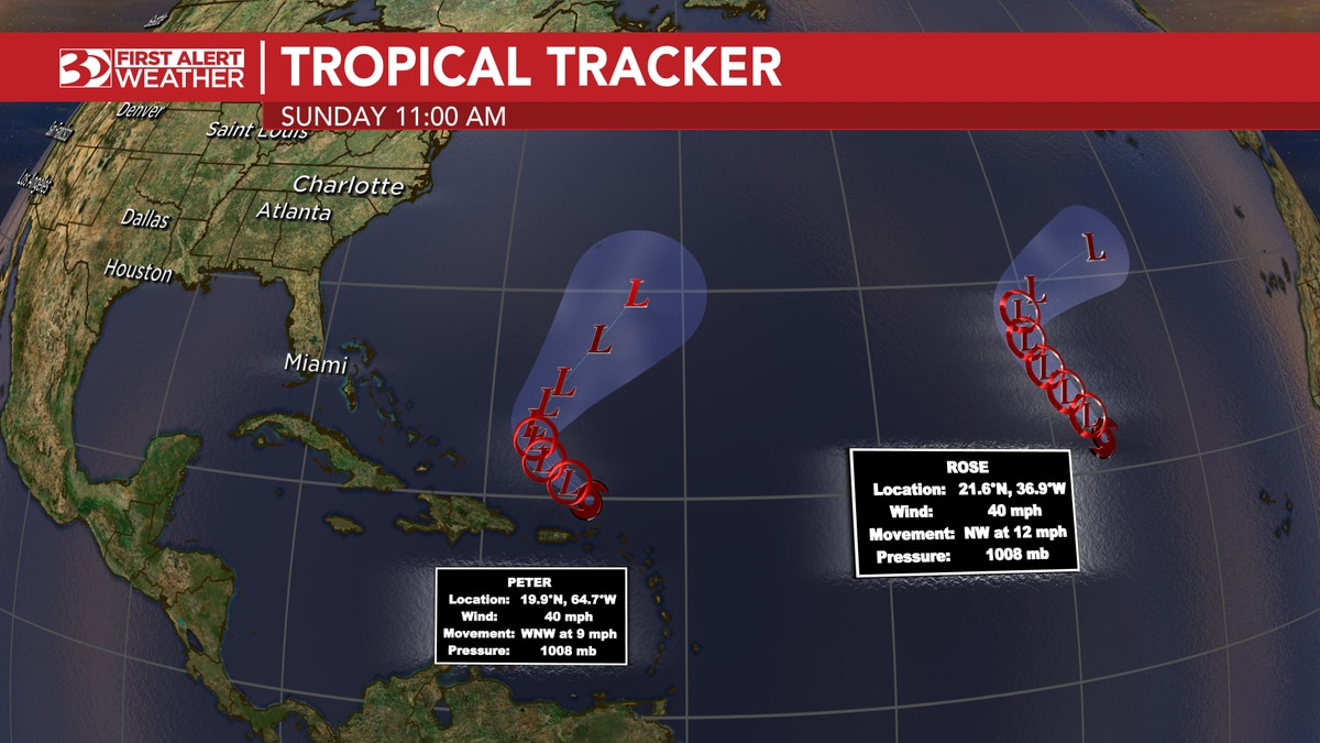 Two named storms are churning in the Atlantic.