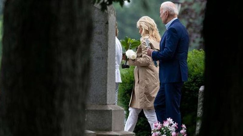 """Biden spends Father's Day golfing with grandson, first lady honors president as """"anchor"""" of..."""