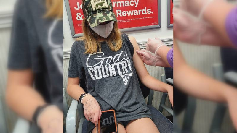 12-year-old Wednesday Lynch got her first dose of the COVID-19 vaccine Sunday, according to her...