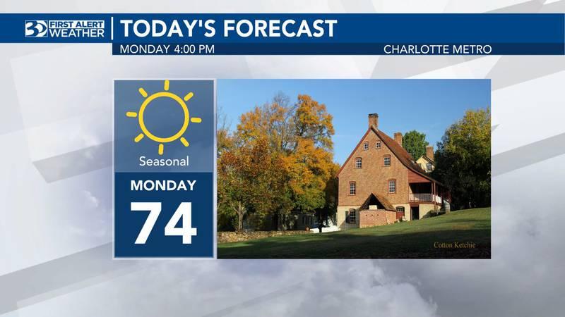 The week will start off with seasonal temperatures.