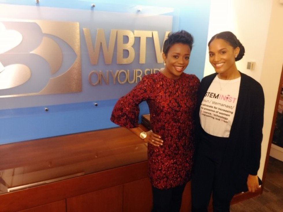 Naomi Thomas, Founder of Boss Business Market and The STEM Station, pictured with WBTV's...
