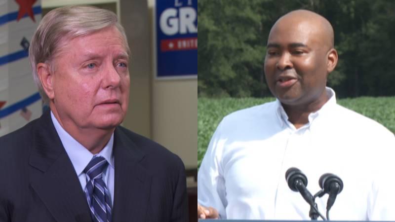 U.S. Senator Lindsey Graham and Democratic challenger Jaime Harrison will participate in three...